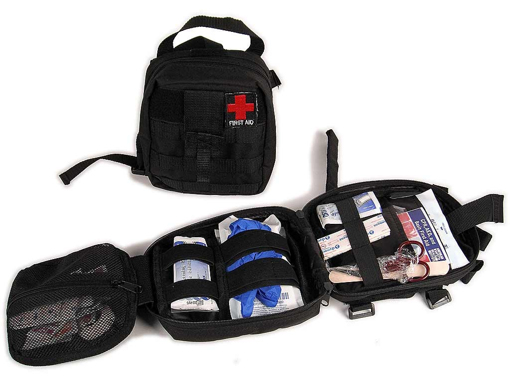 jeep truck suv car first aid bag and 50 piece aid kit attaches to